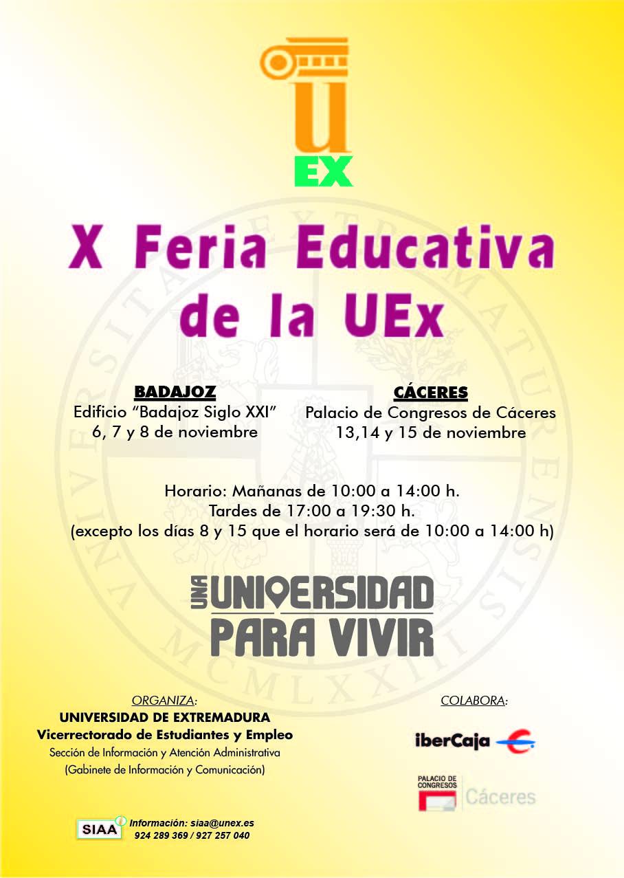 Calendario Uex.Educarex X Feria Educativa De La Uex